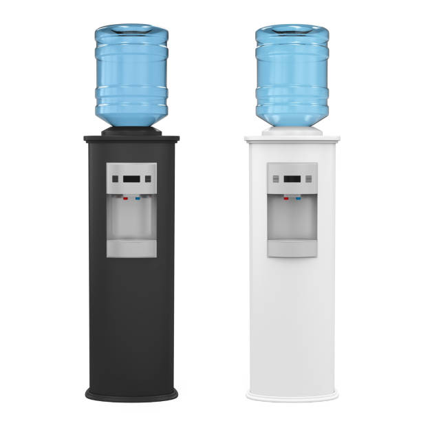 Water Cooler Isolated Water Cooler isolated on white background. 3D render cooler container stock pictures, royalty-free photos & images