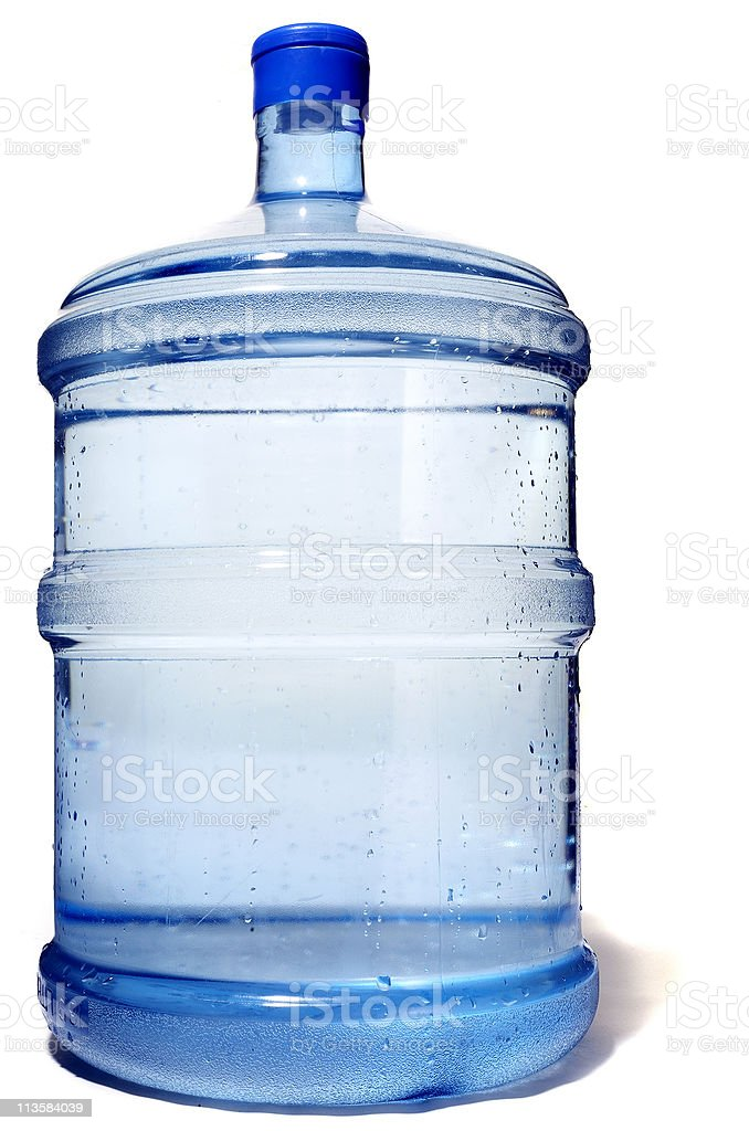 water cooler on white royalty-free stock photo
