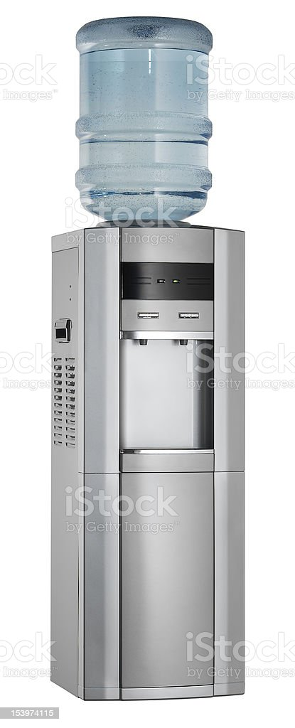 Water Cooler (isolated with clipping path over white background) royalty-free stock photo