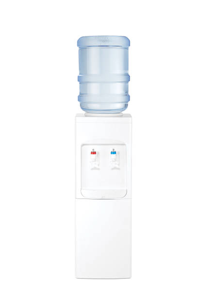 water cooler(clipping path) one gray water cooler(clipping path) cooler container stock pictures, royalty-free photos & images