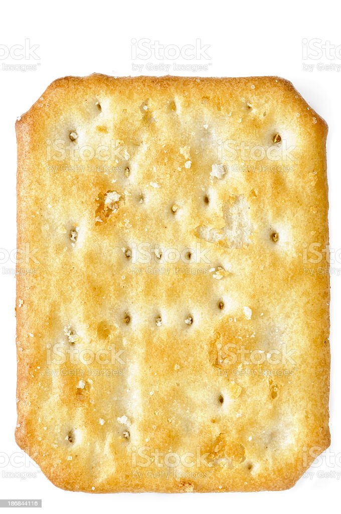 Water Cracker on White Background stock photo