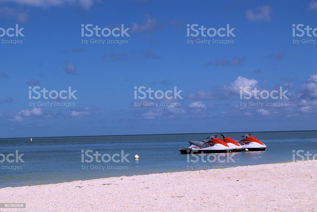 Water craft trio in Florida stock photo