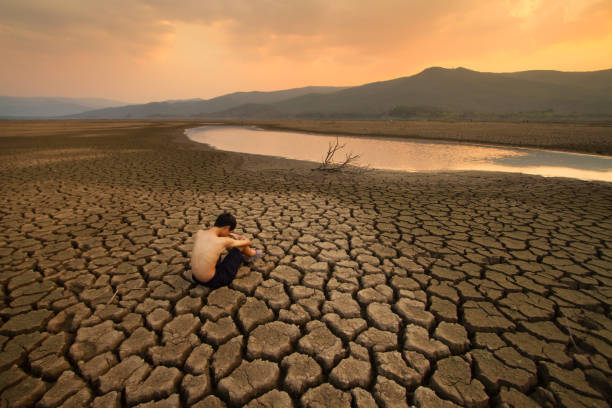 Water Crisis and Climate change concept stock photo