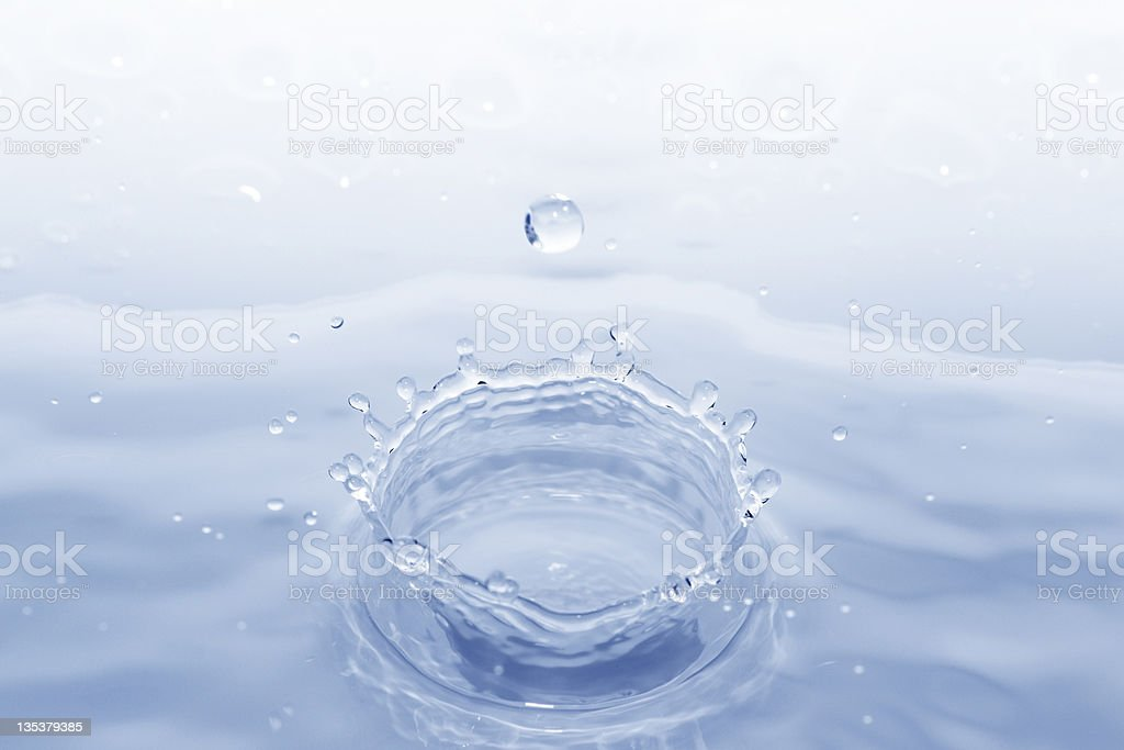 Water Crown. stock photo
