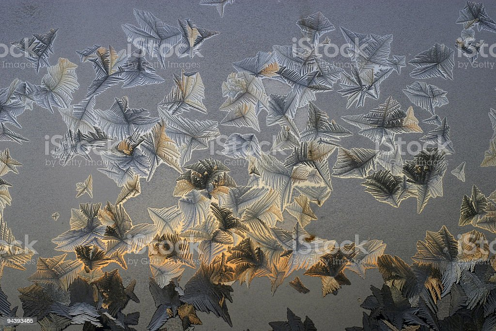 Water crystals growth from a gasous royalty-free stock photo