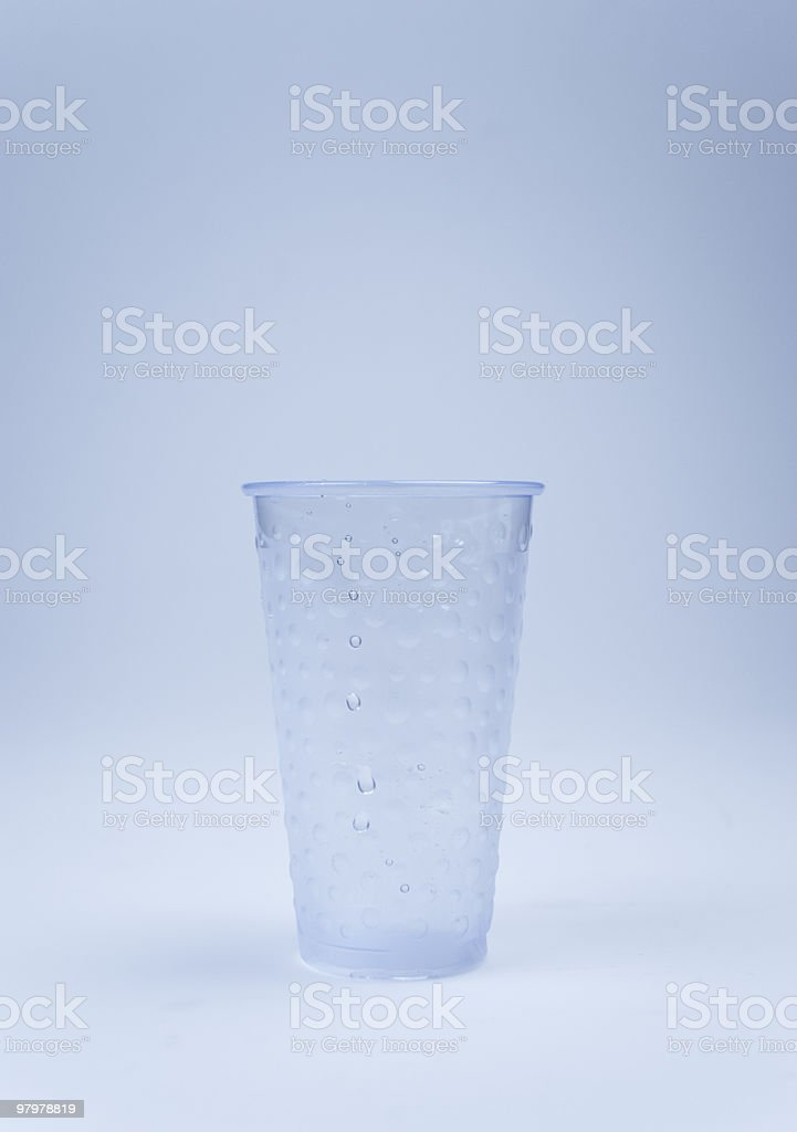 Water cup royalty-free stock photo