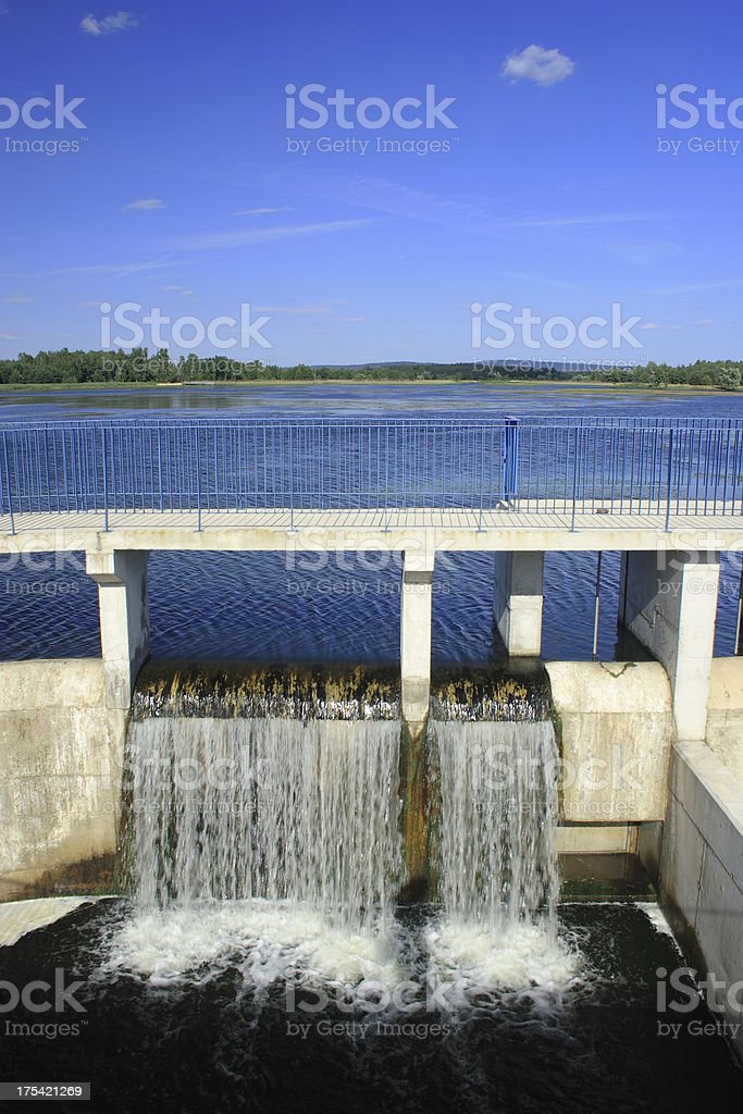 Water dam royalty-free stock photo