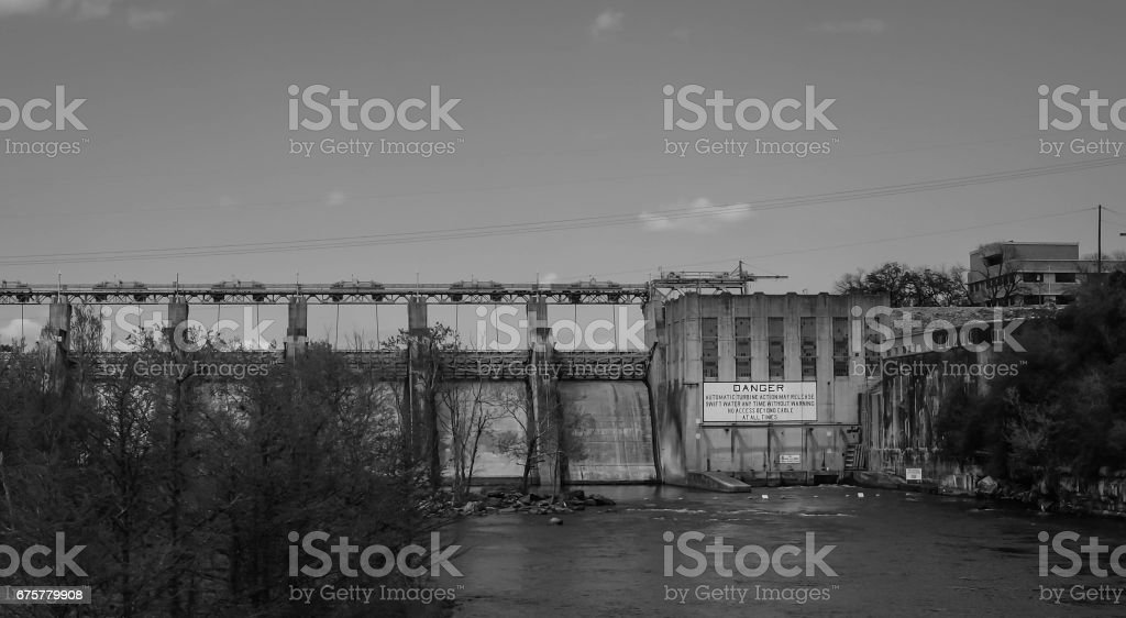 Water dam stock photo