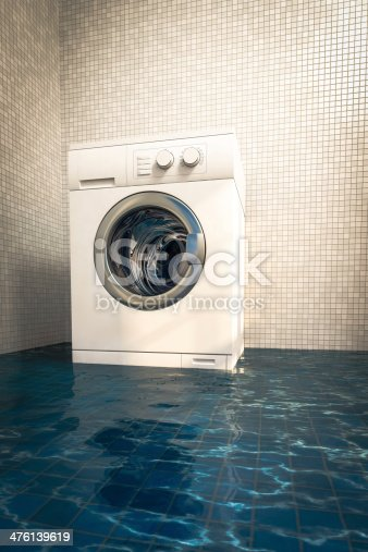 487597124 istock photo Water damage caused by defective washing machine 476139619