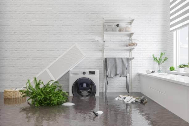 daños causados por el agua - basement fotografías e imágenes de stock