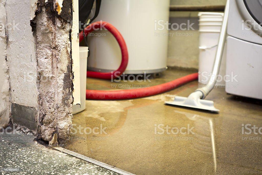 Water damaged basement royalty-free stock photo