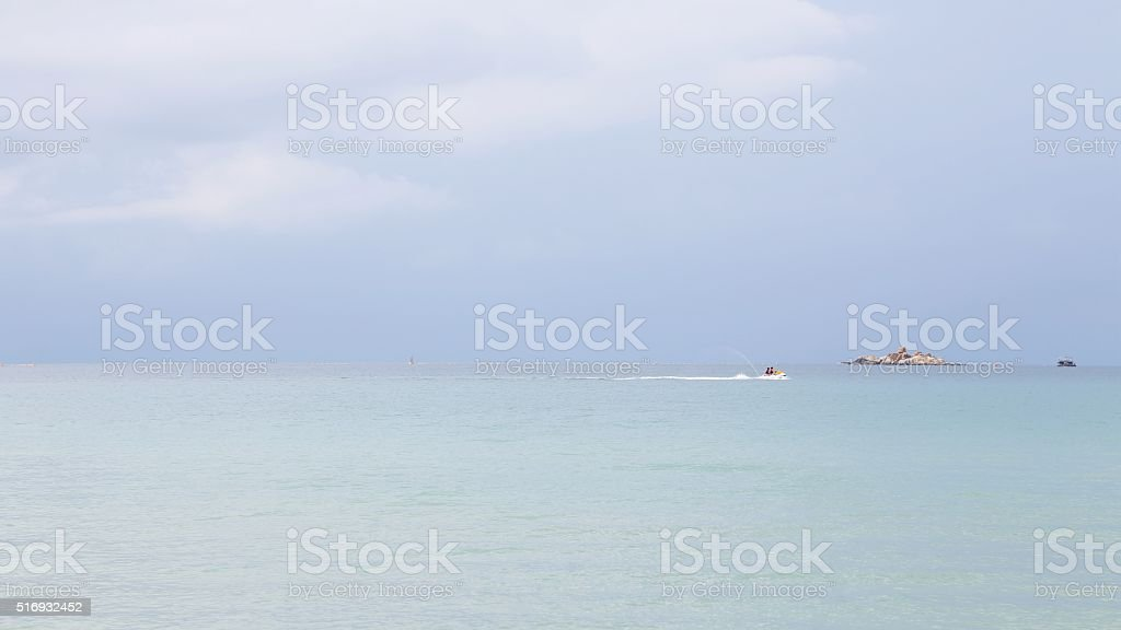 Water Day junction, clean sea and entertainment at sea stock photo