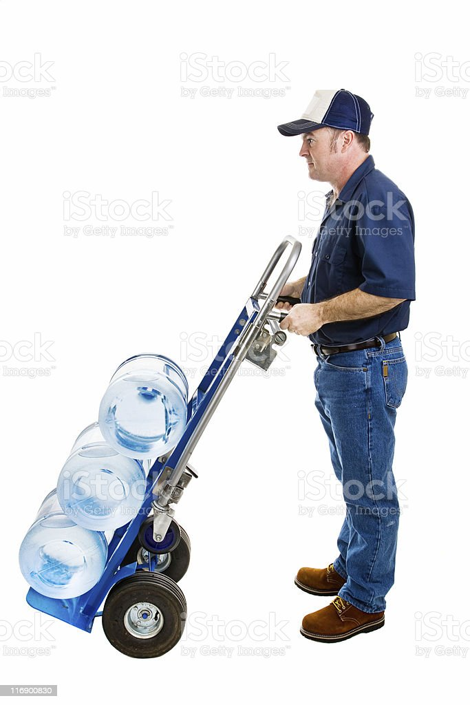 Water Delivery in Profile royalty-free stock photo