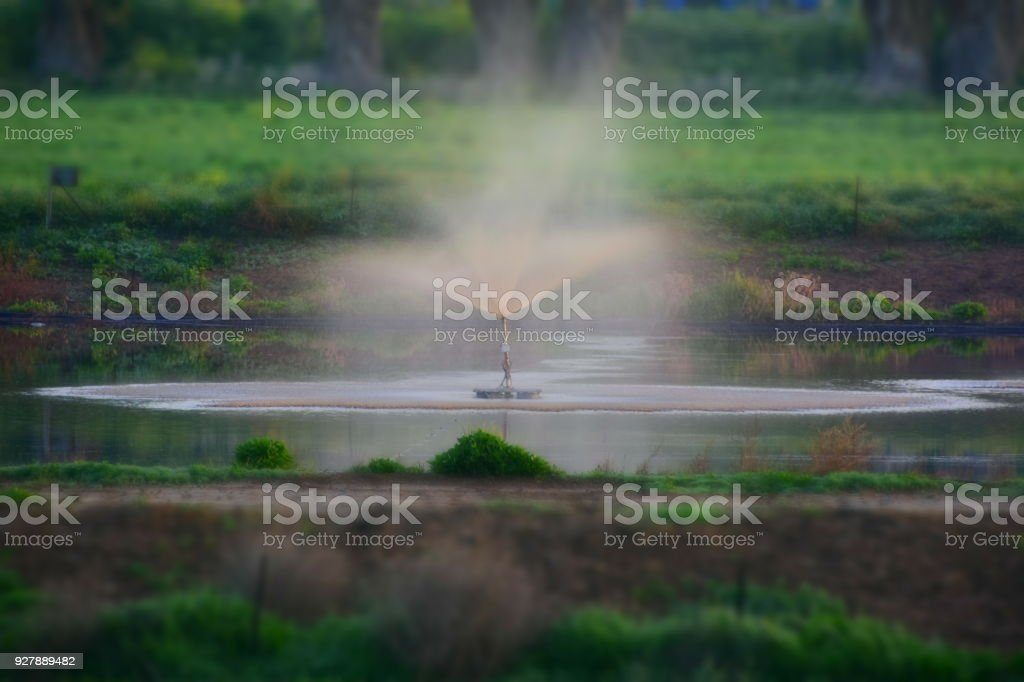 Water desalination for agriculture stock photo