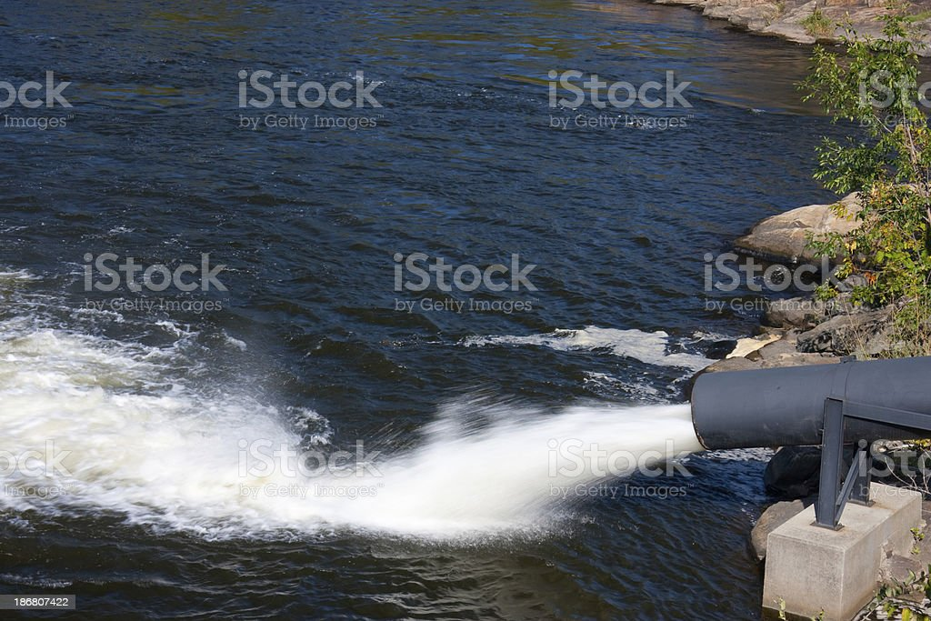 Water Discharge royalty-free stock photo