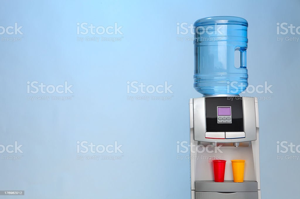 A water dispenser with hot and cold options stock photo