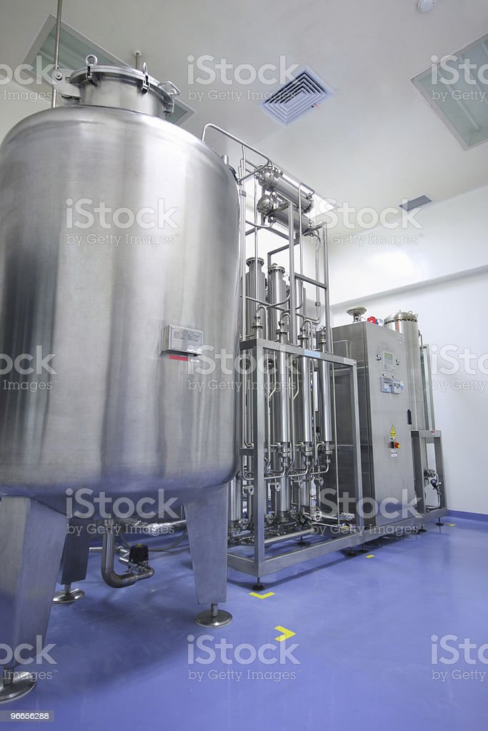 Water distiller in factory royalty-free stock photo