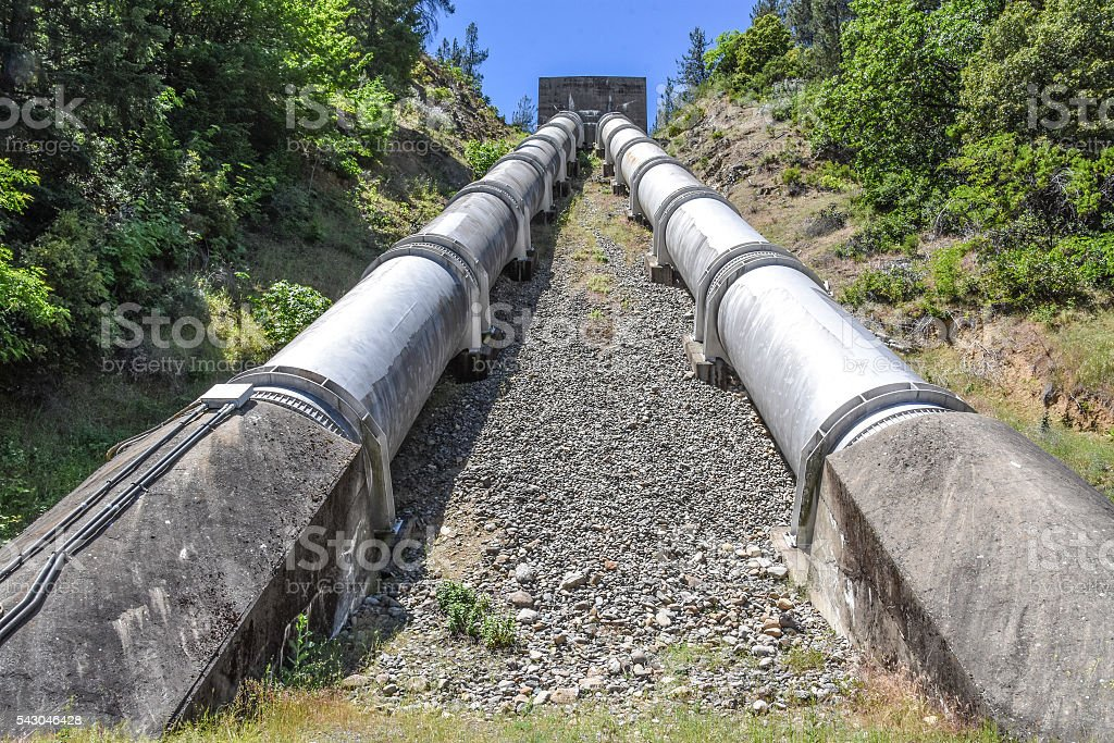 Water diversion pipes stock photo