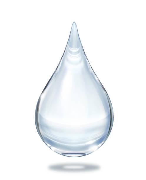 水滴は、白い背景で隔離のビューを閉じます。 - 水滴 ストックフォトと画像
