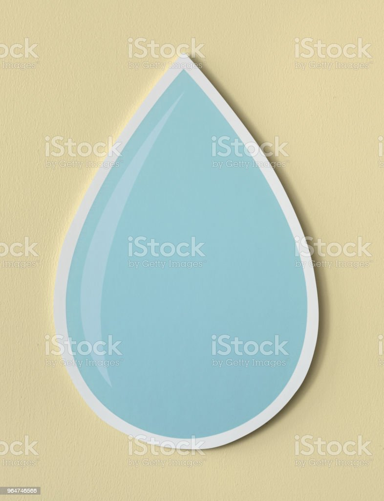 Water drop cut out icon royalty-free stock photo