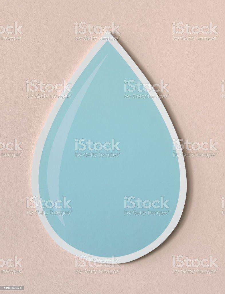 Waterdruppel uitgesneden pictogram - Royalty-free Blauw Stockfoto