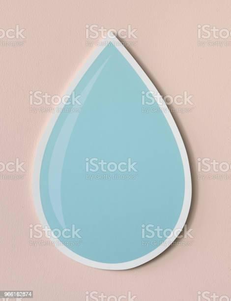 Waterdruppel Uitgesneden Pictogram Stockfoto en meer beelden van Blauw