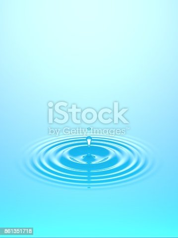 607461154istockphoto Water drop falling into water surface 861351718