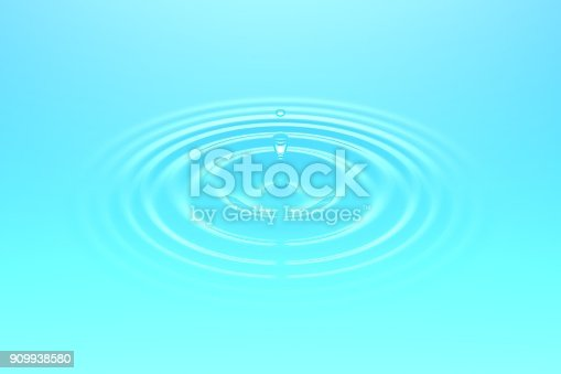 607461154istockphoto Water drop falling into water surface 909938580