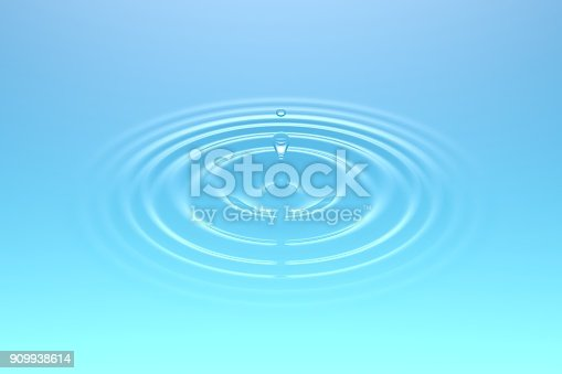 607461154istockphoto Water drop falling into water surface 909938614