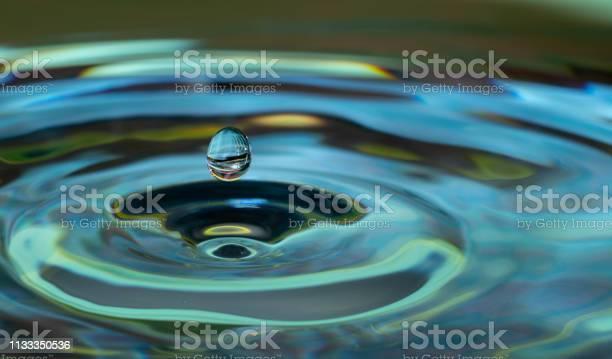 Photo of water drop impact