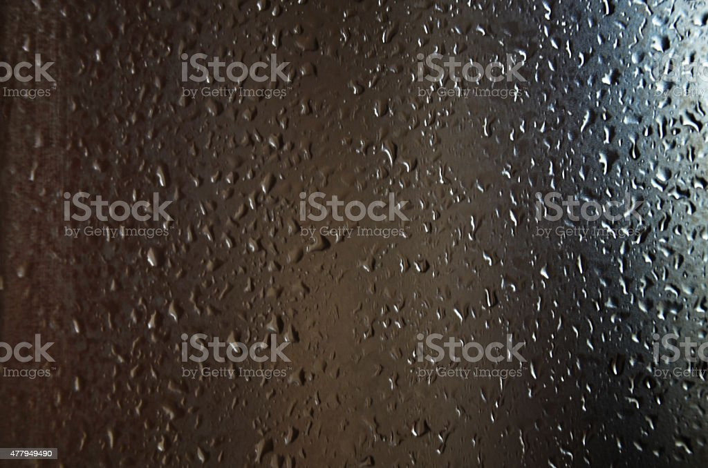 Water drop on Glass stock photo