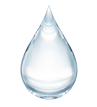Water drop on white