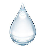 Realistic high detailed renderd isolated unique waterdrop with light prisma effect. With clipping path. Feel free to have a zoom in.