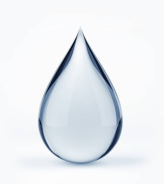 3d water drop on white - single object stock pictures, royalty-free photos & images