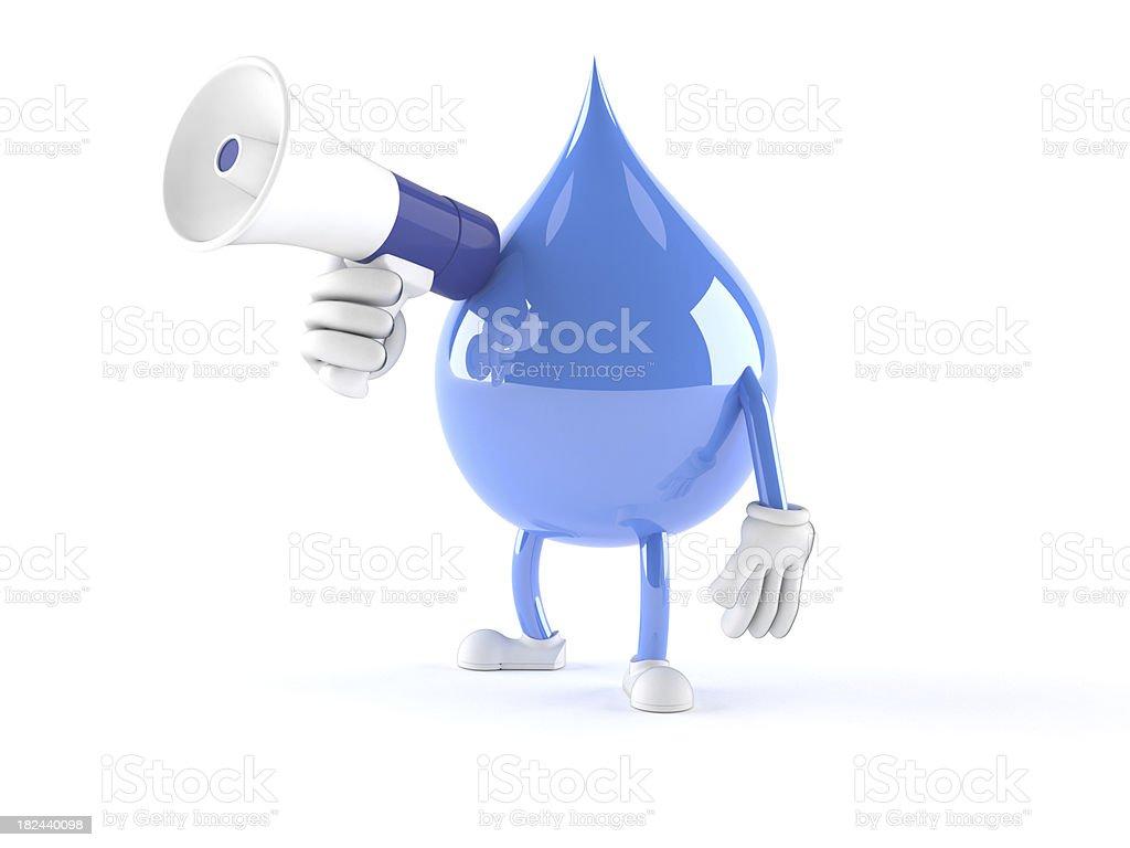 Water drop royalty-free stock photo