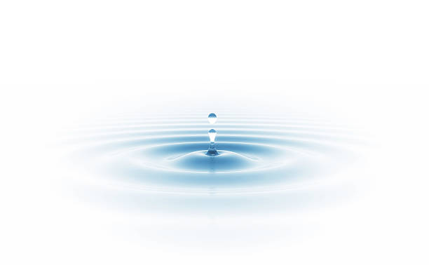 Water drop Fallen drop on the water surface. Nature and environment background  rippled stock pictures, royalty-free photos & images