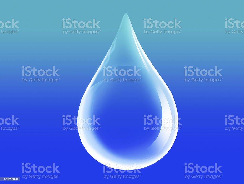 Water drop vector 3D illustration. stock photo
