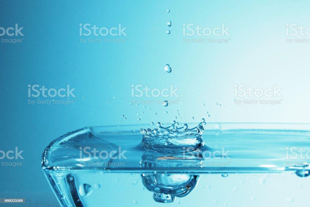 Wassertropfen als Hintergrund - Lizenzfrei Blau Stock-Foto