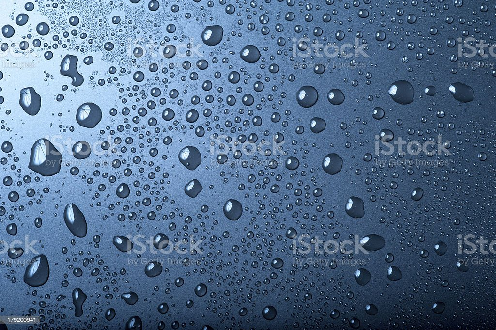 Water Droplets isolated on white background royalty-free stock photo