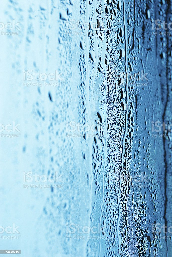 Water Droplets on a Window royalty-free stock photo