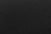 istock Water droplets on black background 1278723342