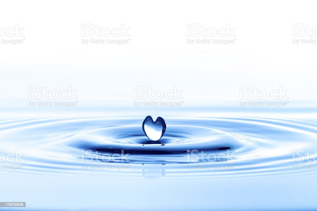 Water Droplets on blue background royalty-free stock photo