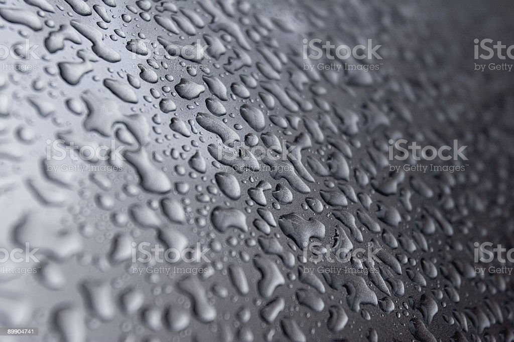 Water Droplets on Car hood royalty-free stock photo