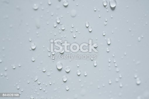 Water droplets on ceramic tiles