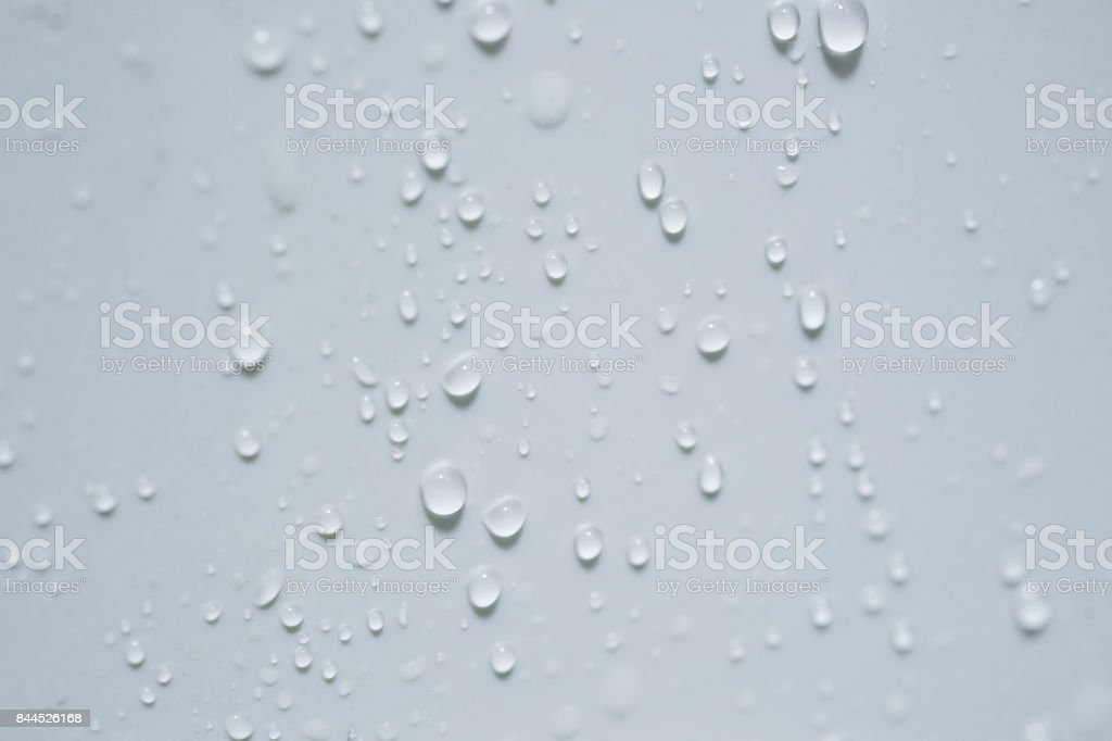 Water droplets on ceramic tiles stock photo