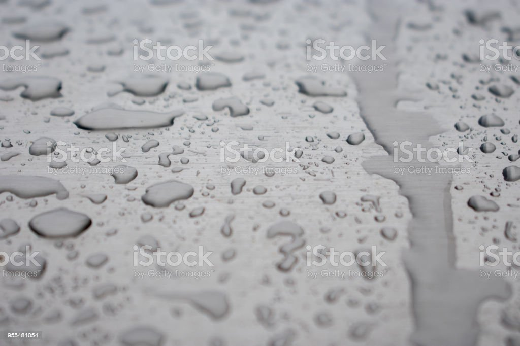 water droplets on chrome stock photo