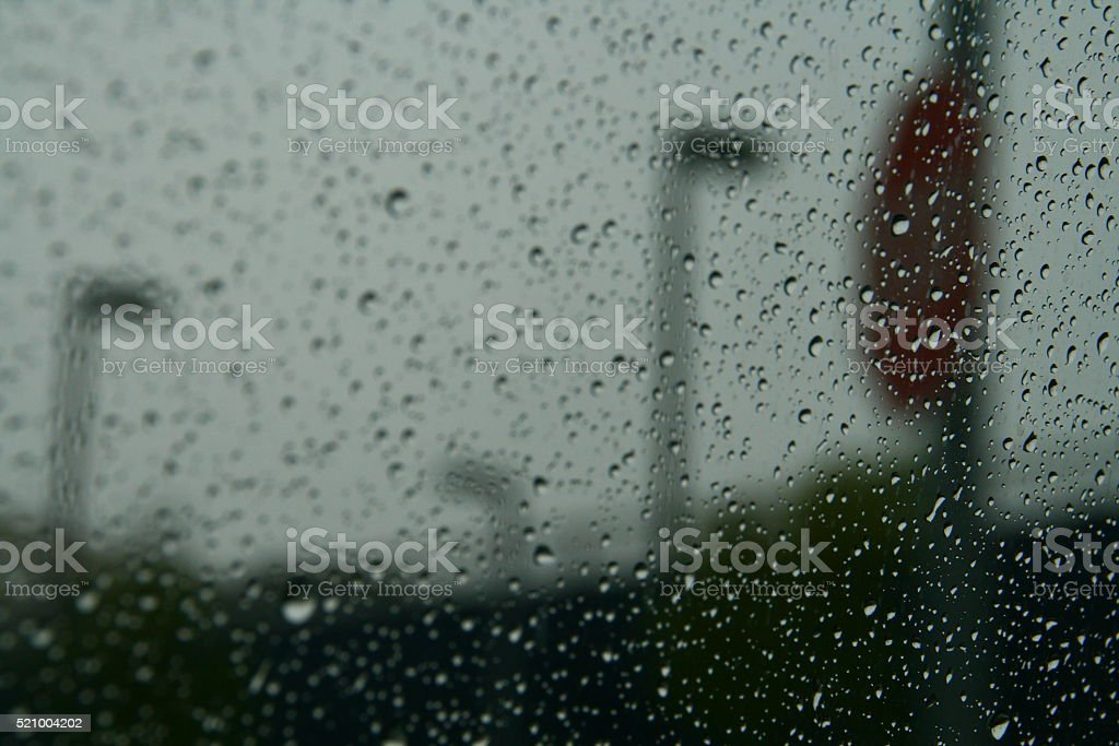 Water Droplets on Glass stock photo