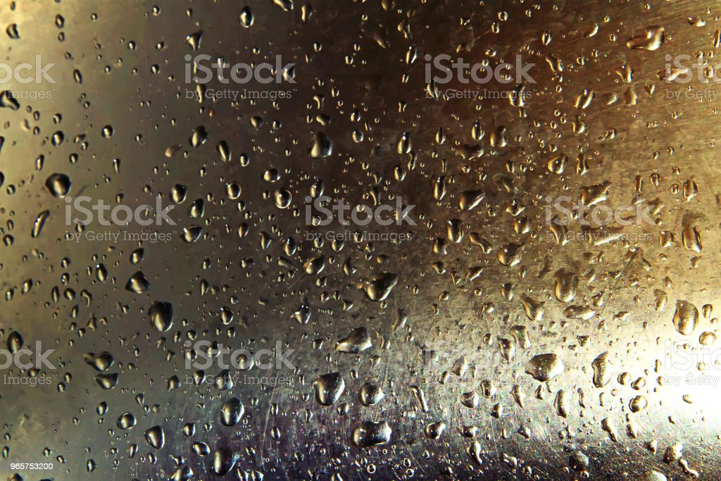 Water droplets on metal. Abstract blurred image - Royalty-free Abstract Stock Photo
