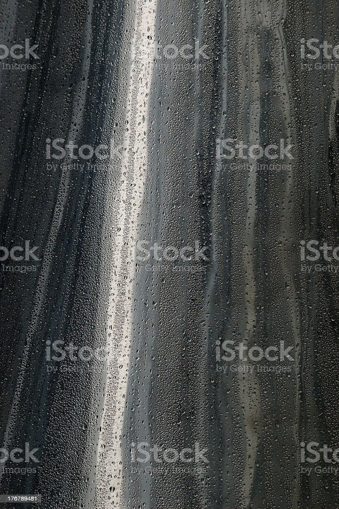 Water droplets on metal. stock photo