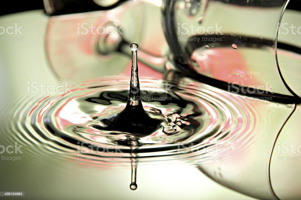 Water Drops and glass in the blow. stock photo